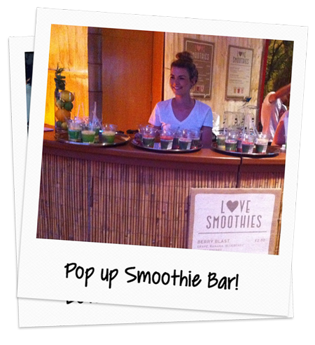 love smoothie pop up bar