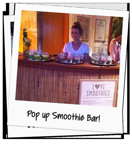 love smoothie pop up bar