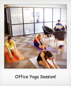 Office Yoga Polaroid
